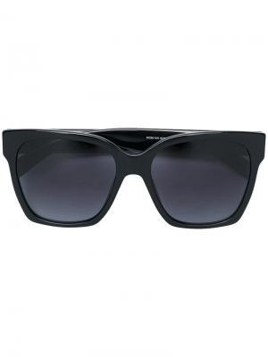 Солнцезащитные очки в квадратной оправе Moschino Eyewear. Цвет: черный