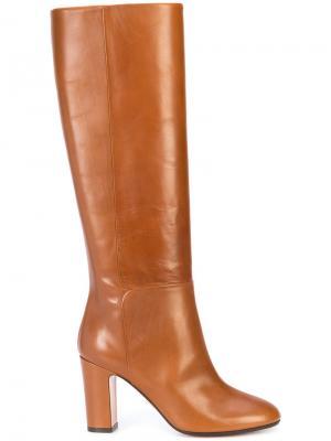Сапоги с закругленным носком Aquazzura. Цвет: коричневый
