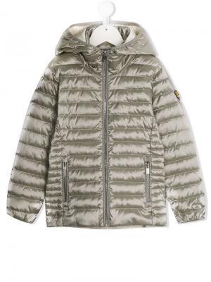 Пуховое пальто на молнии Ciesse Piumini Junior. Цвет: серый
