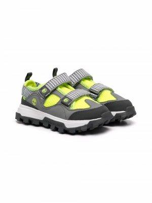 Массивные кроссовки на липучках Timberland Kids. Цвет: серый