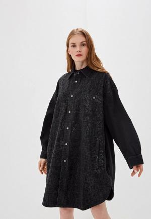 Платье джинсовое Diesel. Цвет: черный