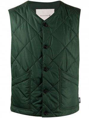 Стеганый жилет Hig Mackintosh. Цвет: зеленый