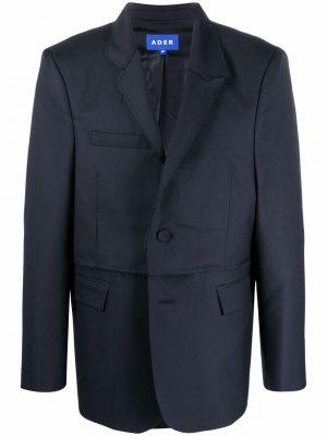 Пиджак со вставками Ader Error. Цвет: синий