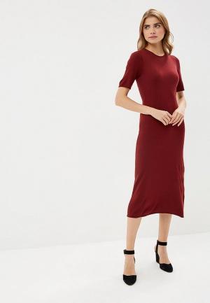 Платье United Colors of Benetton. Цвет: бордовый