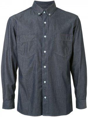 Полосатая рубашка с длинными рукавами Cerruti 1881. Цвет: синий