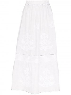 Юбка миди с вышивкой Vita Kin. Цвет: белый