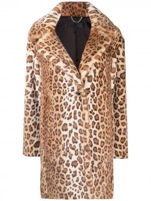 Шуба с леопардовым принтом Rag & Bone. Цвет: коричневый