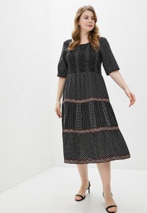 Платье Junarose. Цвет: черный