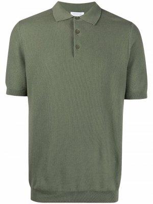 Фактурная рубашка поло Sunspel. Цвет: зеленый