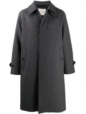 Пальто длины миди в ломаную клетку Mackintosh. Цвет: черный