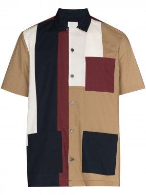 Рубашка Brandon со вставками Wood. Цвет: коричневый