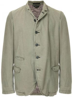 Пиджак с карманами клапанами Comme Des Garçons Vintage. Цвет: зеленый