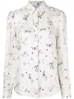 Рубашка с принтом Henri Circus Gabriela Hearst. Цвет: белый