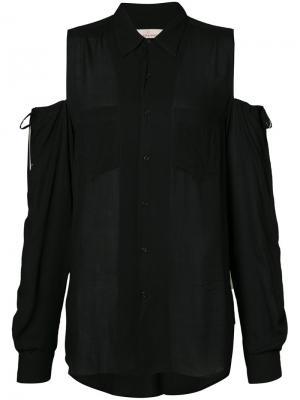 Рубашка с открытыми плечами A.F.Vandevorst. Цвет: черный