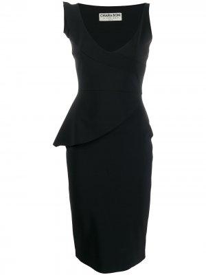 Платье миди облегающего кроя Le Petite Robe Di Chiara Boni. Цвет: черный