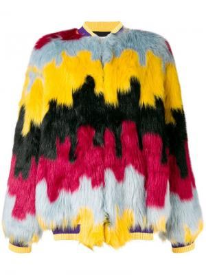 Faux fur bomber jacket Ultràchic. Цвет: желтый