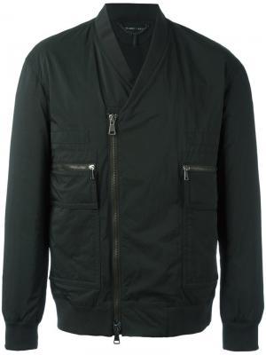 Байкерская куртка-бомбер Helmut Lang. Цвет: черный