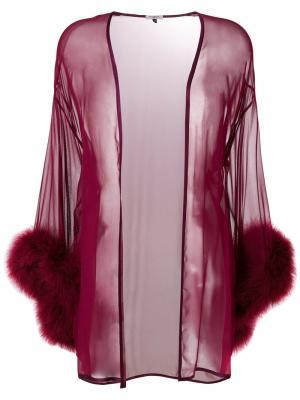 Прозрачный ночной халат Gilda & Pearl. Цвет: красный