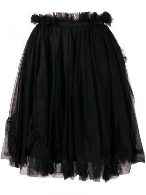 Расклешенная мини-юбка Ermanno Scervino. Цвет: черный