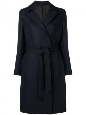 Tailored belt coat Filippa-K. Цвет: синий