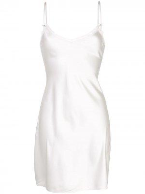 Платье-комбинация Sienna Morgan Lane. Цвет: белый