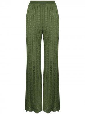 Расклешенные брюки с вышивкой M Missoni. Цвет: зеленый