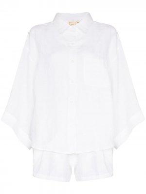 Пижамный комплект Deiji Studios. Цвет: белый