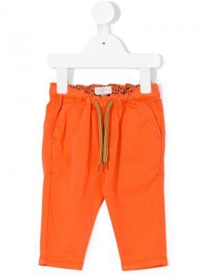 Джинсы с талией на шнурке Paul Smith Junior. Цвет: оранжевый