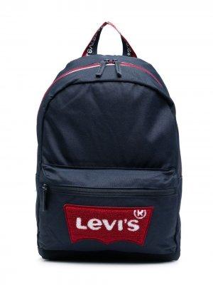 Levis Kids рюкзак с нашивкой-логотипом Levi's. Цвет: синий