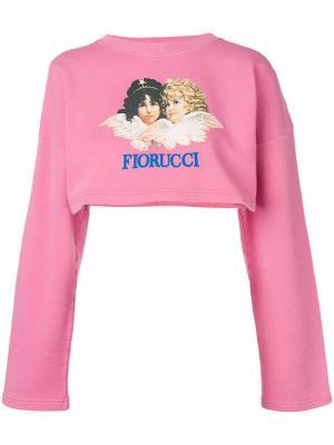 Cropped jumper Fiorucci. Цвет: розовый