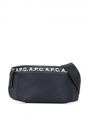 Поясная сумка Saville с логотипом A.P.C.. Цвет: синий