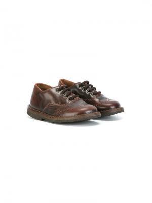 Туфли броги Pèpè. Цвет: коричневый