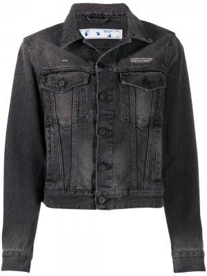 Джинсовая куртка на пуговицах Off-White. Цвет: серый