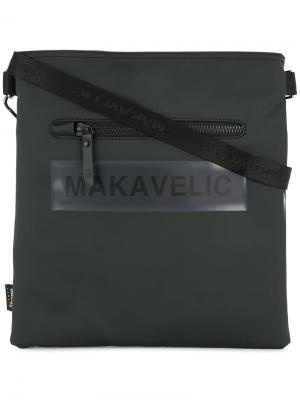 Квадратная сумка на плечо Ludus с логотипом Makavelic. Цвет: черный