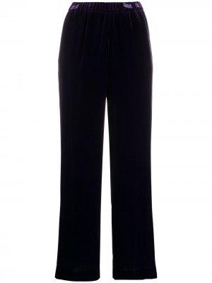 Укороченные бархатные брюки Aspesi. Цвет: фиолетовый