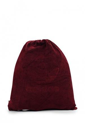 Мешок adidas Originals. Цвет: бордовый