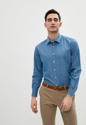 Рубашка джинсовая Lab. Pal Zileri. Цвет: синий