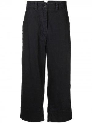 Укороченные брюки широкого кроя Margaret Howell. Цвет: синий