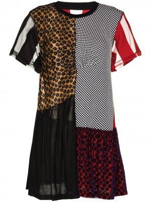 MarquesAlmeida платье мини reM'Ade в технике пэчворк Marques'Almeida. Цвет: черный