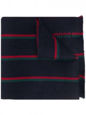 Жаккардовый шарф в полоску Dsquared2. Цвет: синий