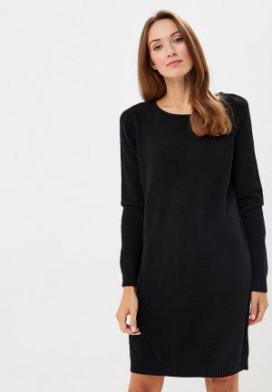 Платье Vila. Цвет: черный