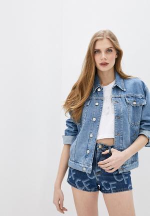 Куртка джинсовая Chiara Ferragni. Цвет: голубой