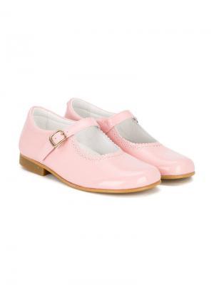 Балетки с ремешками Andanines Shoes. Цвет: розовый