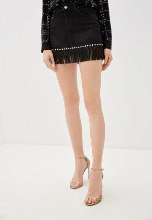 Юбка джинсовая Liu Jo. Цвет: черный
