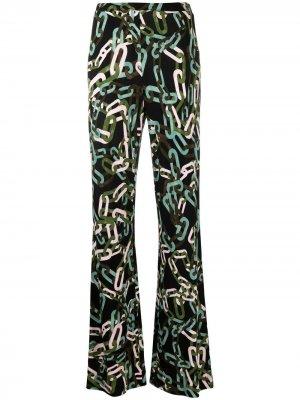 Расклешенные брюки Caspian DVF Diane von Furstenberg. Цвет: зеленый