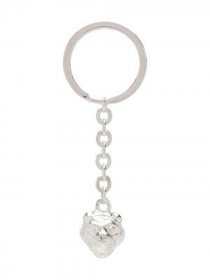 Брелок для ключей с подвеской VICTORIA STRIGINI. Цвет: серебристый