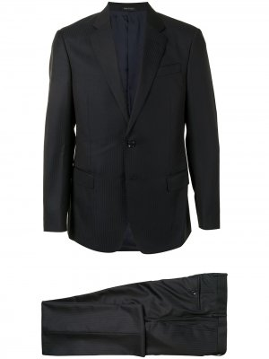 Костюм с однобортным пиджаком Giorgio Armani. Цвет: черный