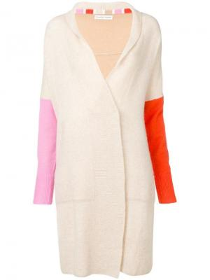 Longline colour block cardigan Tsumori Chisato. Цвет: нейтральные цвета