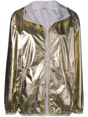 Куртка с капюшоном и металлическим отблеском P.A.R.O.S.H.. Цвет: золотистый
