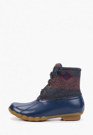 Ботинки Sperry Top-Sider. Цвет: синий